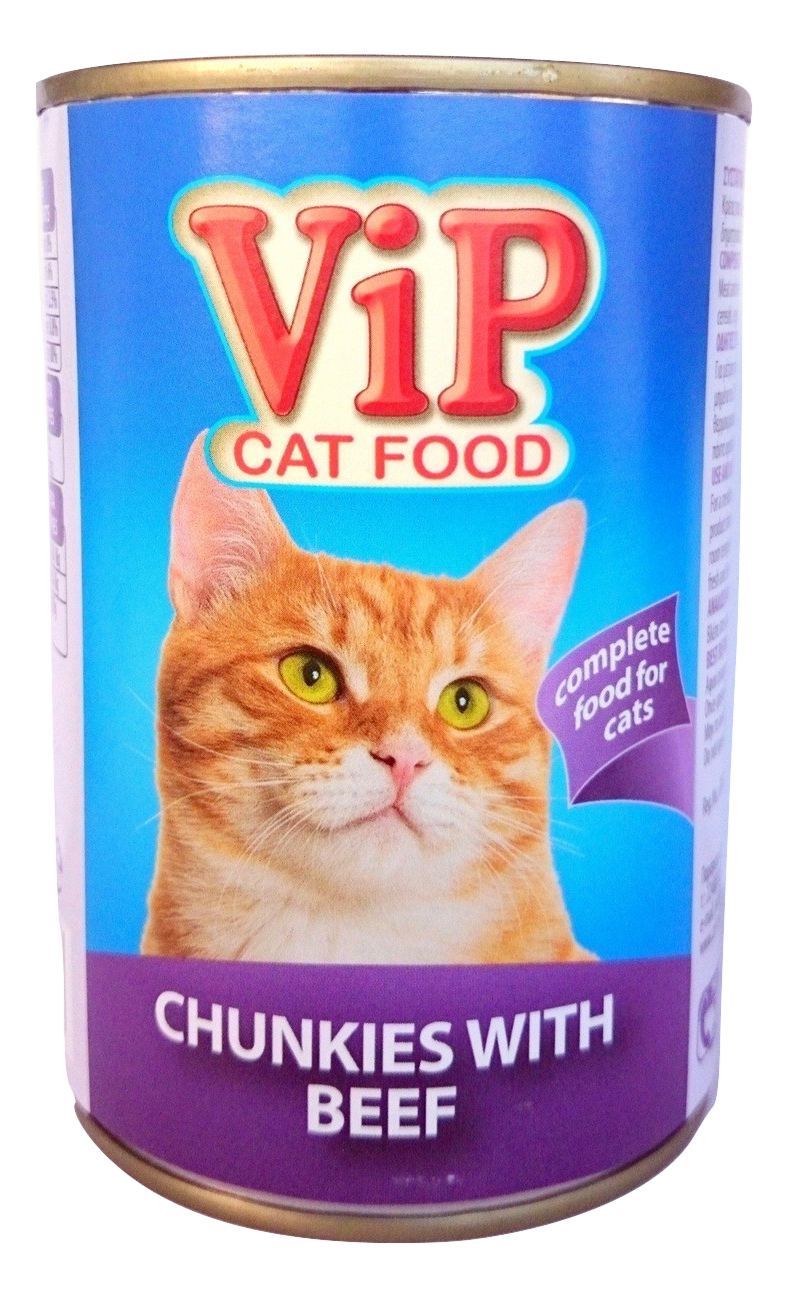 ViP Cat Food can 415gr Beef Image