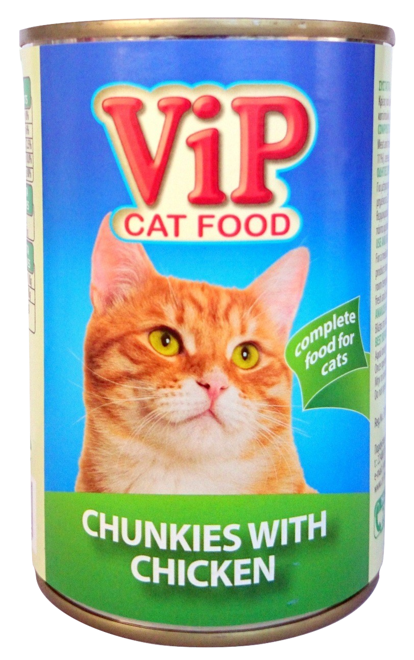 ViP Cat Food can 415gr Chicken Image