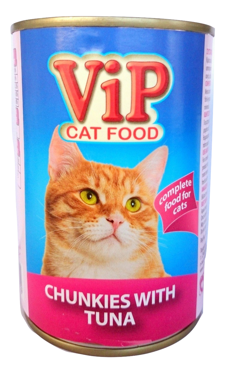 ViP Cat Food can 415gr Tuna Image