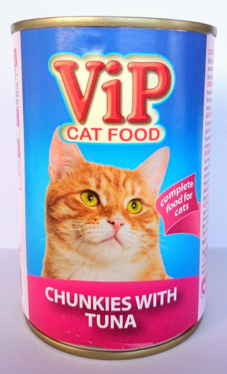 ViP Cat Food can 415gr Tuna Image