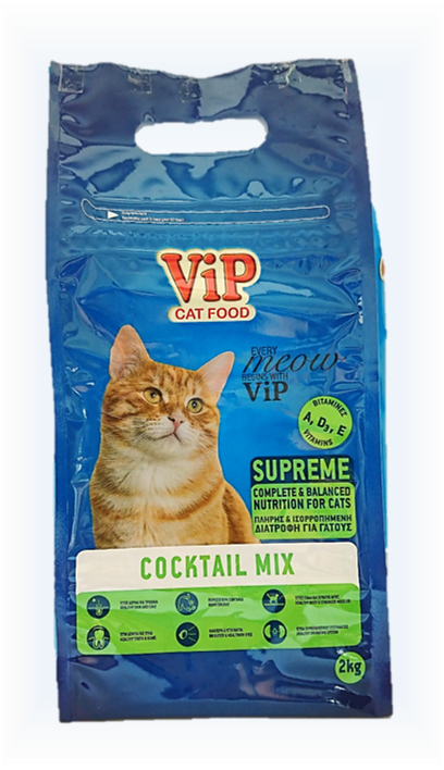 ViP Cat Dry Food 2kg - Cocktail Mix formula Image